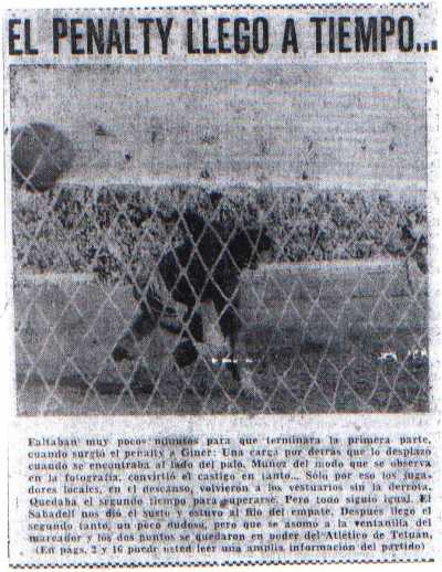 Penal Atl. Tetuan -Sabadell