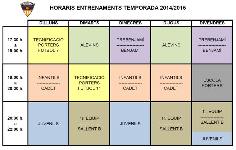 horarisEntrenamentSAllent20142015